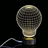 Nightlight,YJYdada Light Bulb 3D Unique Lighting Effects Optical Illusion Home Decor LED Table Lamp