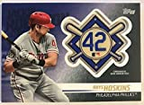 2018 Topps Update Jackie Robinson Day Manufactured Medallion Patch #JRP-RH Rhys Hoskins Philadelphia Phillies