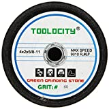 Toolocity GSB0060G 4-Inch Green Grinding Stone 60 Grit with 5/8-11 Thread