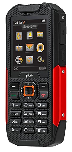 Unlocked Rugged Cell Phone GSM USA Worldwide Waterproof Shock Proof Built in Power Bank Powerful Flashlight Military Grade IP68 Certified Black Red