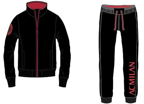 82232da3122bc Tuta Milan Ufficiale Uomo Adulto Cappuccio XXL XL L M S XS Felpa Pantalone  MILTUT (Spalle 40