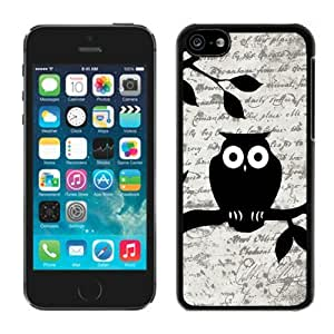Cool TPU Iphone 5c Black Case Owl on Vintage Paper Soft Silicone Mobile Phone Cover by icecream design