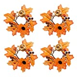 Glitzy Pumpkin Napkin Rings 4pcs (Set of 5)