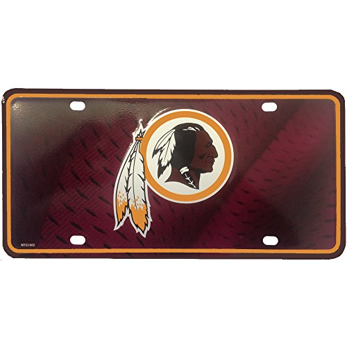Washington Redskins NFL Team Logo Auto Car Truck SUV Vehicle Garage Home Office Room Wall License Plate Tag (Auto Nfl Logo)