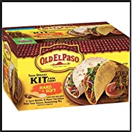 Old El Paso Hard & Soft Taco Dinner Kit 36 Tacos | 18 Taco Shells 18 Flour Tortillas