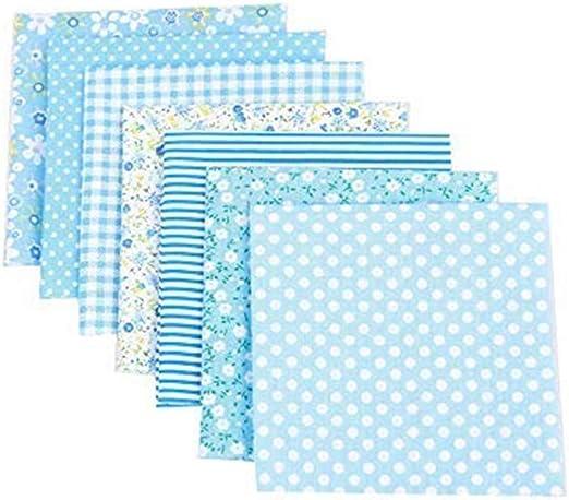 Culasign 7 unidades Patchwork telas flores algodón plástico Set ...