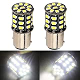 Everbright 2-Pack DC-12V,800Lumens White 1157 BAY15D 2057 2357 7528 Base 33 SMD 2835 LED Replacement Bulb for Tail - Rear Reverse - Brake - Turn - Backup Lamp - Parking Lights