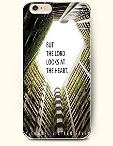 iPhone 6 Case,OOFIT iPhone 6 (4.7) Hard Case **NEW** Case with the Design of But the lord looks at the heart samuel 16:7 - Case for Apple iPhone iPhone 6 (4.7) (2014) Verizon, AT&T Sprint, T-mobile