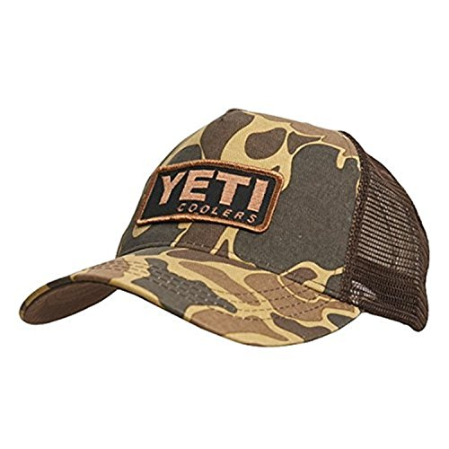 [YETI Custom Camo Hat with Patch] (Yeti Hat)
