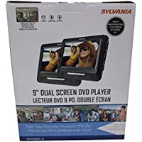 Sylvania SDVD9957 Portable DVD Player with Dual 9 Screen (Black) (Certified Refurbished)