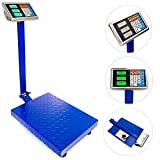 660lbs / 300kg Industrial Platform Weight Computing Bench Scale Accurate Digital Large Platform Shipping Balance Postal Scales for Postal Shipping Mailing, Package Price Computing, Warehouse, Luggage