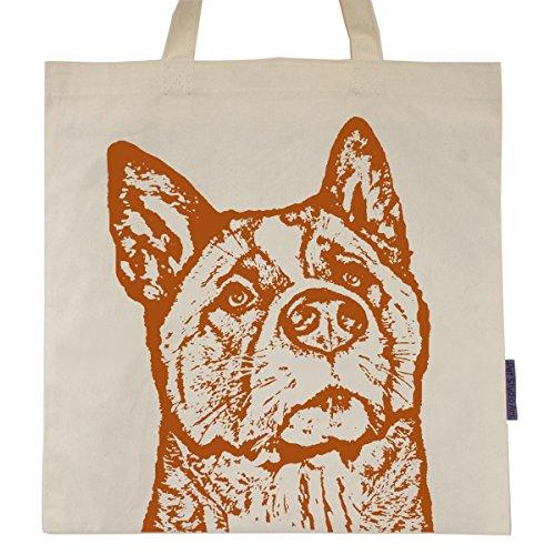 Akita named Wayne Tote Bag (Akita Christmas Gifts)