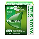 Nicorette Nicotine Gum, Quit Smoking and Smoking Cessation Aid, Ultra Fresh Mint, 2mg