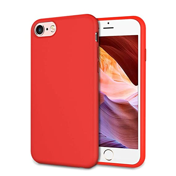 UrSpeedtekLive Slim Series iPhone 6/6s/7/8 Case, Liquid Silicone Gel Rubber Shockproof Cover Case with Soft Microfiber Lining Full Body Protection for ...