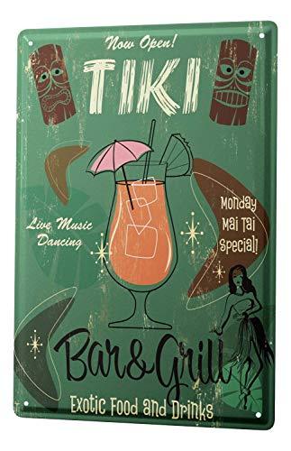 Party Retro Tiki Bar Bar Pub Restaurant Aluminum Metal Sign Heavy Duty Funny Decoration Tin Signs