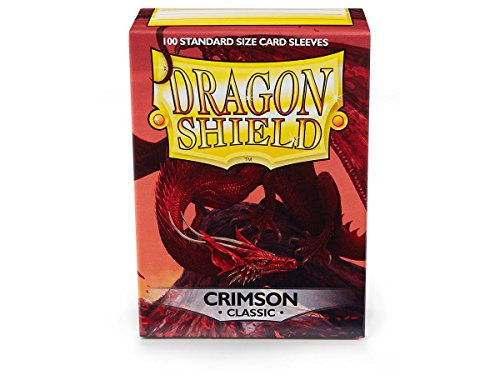 Shield Glossy (Dragon Shield Classic Crimson Standard Size 100 ct Card Sleeves - 1 pack)
