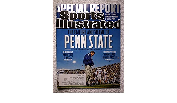 2011 Joe Paterno Penn State Nittany Lions Sports Illustrated A November 21