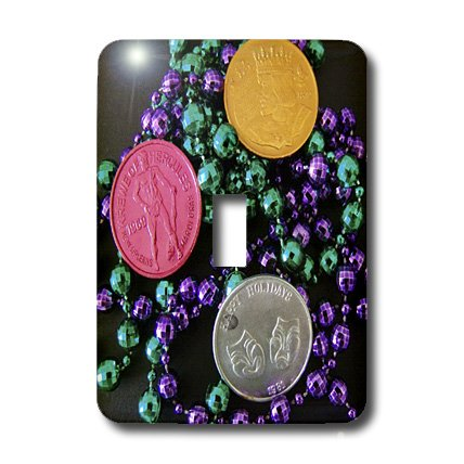 3dRose LLC lsp_7858_1 Mardi Gras Coins Single Toggle Switch
