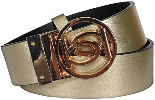 Bebe Women/'s Reversible Belt with Logo Buckle