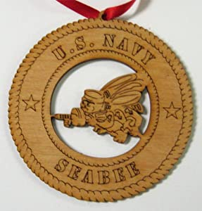 US Navy Seabee Ornament from Sticker Merchant