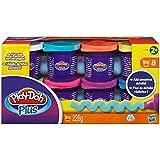 Play-doh - Vasetti Plus con Pasta da Modellare, Confezione da 8 Pezzi