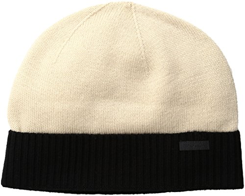 Nautica Men's Merino Wool Beanie Hat, Sandy Bar, One Size (Hat Pull Wool On)