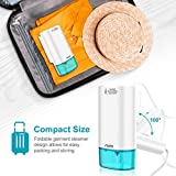 Aerb Steamer for Clothes, Portable Clothing Steamer Handheld Travel Garment Steamer - 25S Fast Heating - Tale White