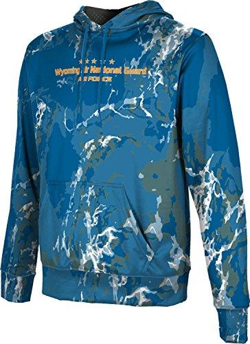 Men's Wyoming Air National Guard Military Marble Hoodie Sweatshirt (Apparel)