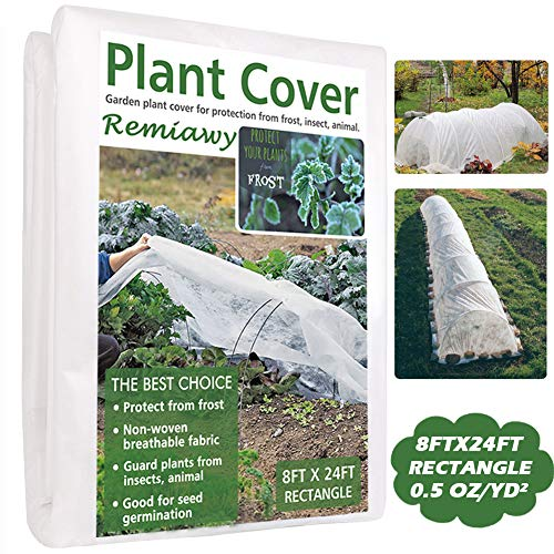 Plant Covers Freeze Protection 8FTX24FT Fabric Plant Blanket for Cold Weather, Reusable Plant Covers for The Winter Frost Protection Animal Protection (8FTX24FT)