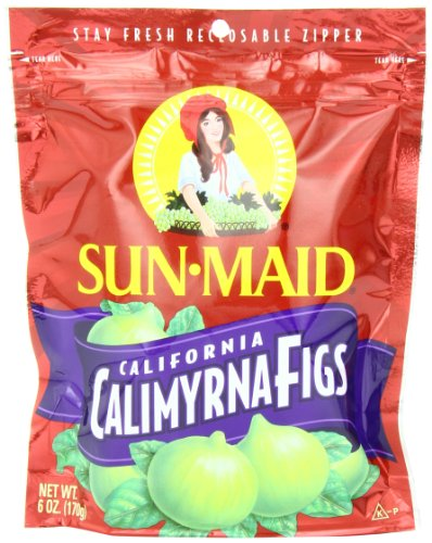 Sun Maid Calimyrna Figs, 6-Ounce Bags (Pack of 6)
