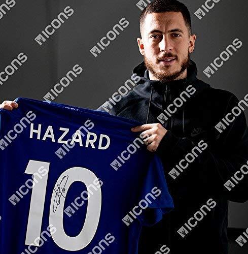 Eden Hazard Back Signed Chelsea 2017-18 Home Shirt