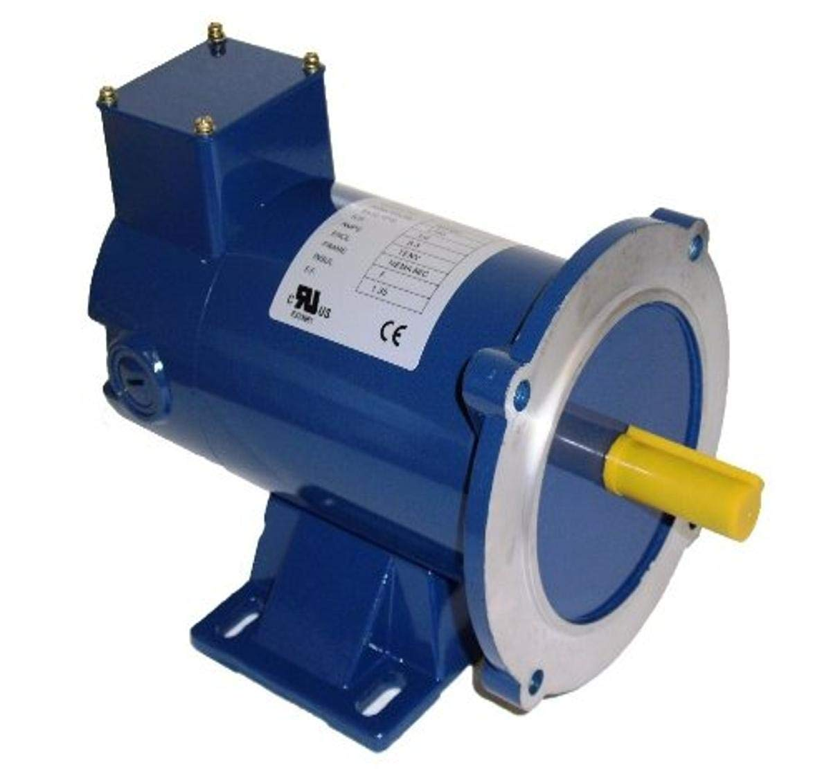 Hallmark Industries MD0502C DC Motor, 1/4 hp, 1800 RPM, 90VDC, 56C, TENV, with Foot