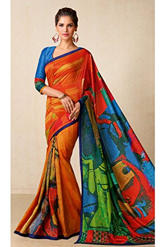 Wedding Wear Party Indian Women Traditional Designer For Facioun 183 Da Saree Sarees Multi WwHqXx8