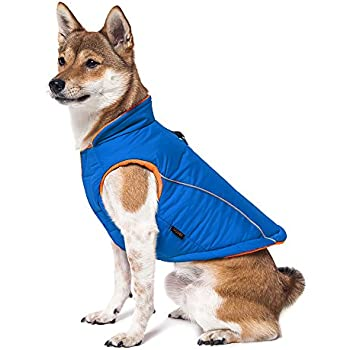 Gooby Cold Weather Fleece Lined Sports Dog Vest with Reflective Lining, Medium, Blue