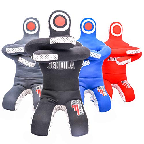 Grappling Dummy MMA Jiu Jitsu - Grappling Wrestling Dummy - Made from Durable Canvas Fabrics - MMA Dummy for Multiple Drills UNFILLED (Grappling Heavy Bag Dummy)