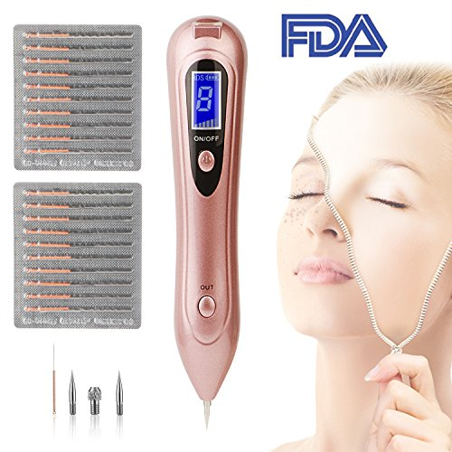 Mole Removal Pen, BDSii Portable USB Rechargeable Skin Tag Removal Tool Kit with 8 Strength Levels Professional Beauty Pen for Body Facial Freckle Nevus Warts Age Spot Tattoo Remover Beauty (Skin Eraser)