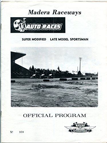 Madera Speedway Race Program 1972 - Madera Stores