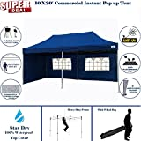 10'x20′ Pop up 6 Walls Canopy Party Tent Gazebo Ez Navy Blue – F Model Upgraded Frame By DELTA Canopies Review
