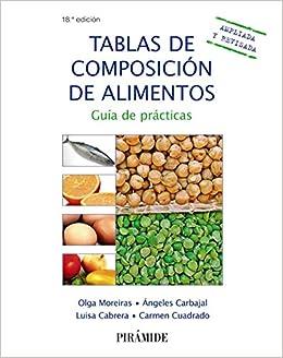 Tablas de composición de alimentos: Guía de prácticas Ciencia Y Técnica: Amazon.es: Olga Moreiras Tuni, Ángeles Carbajal, Luisa Cabrera Forneiro, ...