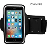 iPhone 7 6 6S Sports Armband -JZxin Bundle with Screen Protector, Reflective Strip, Water Resistant, Running, Exercise, Gym Sportband - Armband with Key Holder iPhone 6, 6S iPhone 5/5C/5S - 4.7 Inch