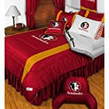NCAA Florida State Seminoles King Comforter Pillowcases Set College Football Team Logo Bed
