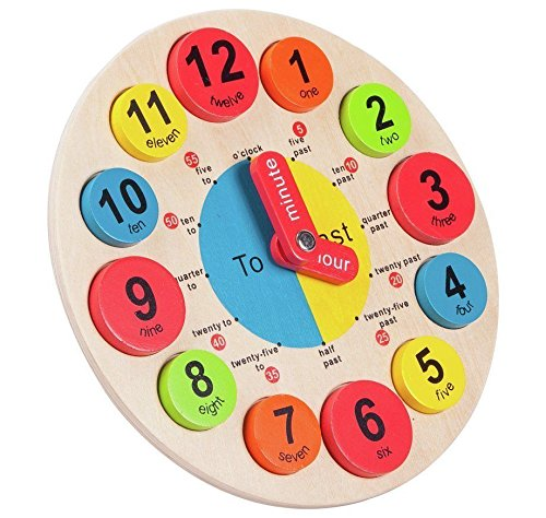 Wall Clocks New Elegant Chad Valley PlaySmart Wooden Clock for Kids to Learn and fun