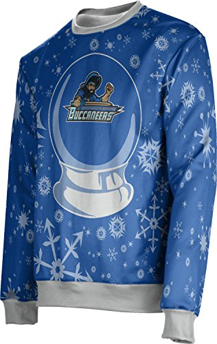 Prosphere Unisex Massachusetts Maritime Academy Ugly Holiday Snow Globe Sweater  Apparel