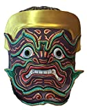 Thai Nontakarn Khon Mask For Hanging The Wall Or Decoration (Fiberglass, height 9 x width 8 x depth 4 inch)