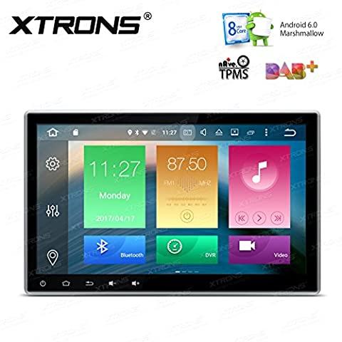 XTRONS Octa-Core 64bit 10.1 Inch Android 6.0 HD Digital Multi-touch Screen Car Stereo DVD Player GPS Radio Screen Mirroring OBD2 Double 2 (Radios De Dvd)