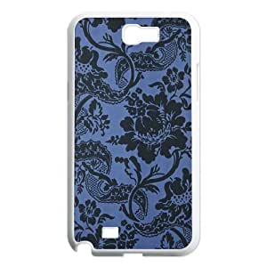Blue Flowers DIY Cover Case for Samsung Galaxy Note 2 N7100,personalized phone case ygtg612002 by icecream design