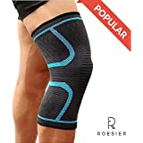 Roesier Compression Knee Sleeve, Anti Slip Fit, Brace Support, for Leg Pain Relief Care, Weightlifting, Crossfit, Powerlifting, Wrestling, Basketball, Women, Men, Joint Support, Arthritis