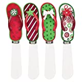 Boston Warehouse Festive Flip Flops Spreader, Set of 4