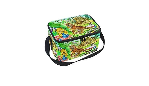 DOSHINE - Bolsa de Almuerzo con Diseño de Flor de Tigre y ...
