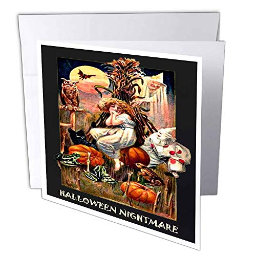 3dRose Vintage Halloween Nightmare - Greeting Cards, 6 x 6 inches, set of 12 (gc_6038_2)